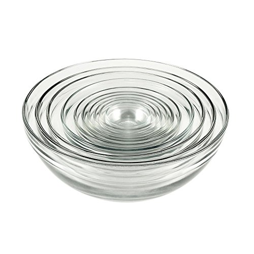 Anchor Hocking Glass Mixing Bowls, Mixed, Set of 10