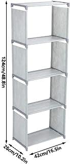 Estante de armazenamento multicamadas, prateleira de armazenamento de estante de pé feita de tecido não tecido Organizador...