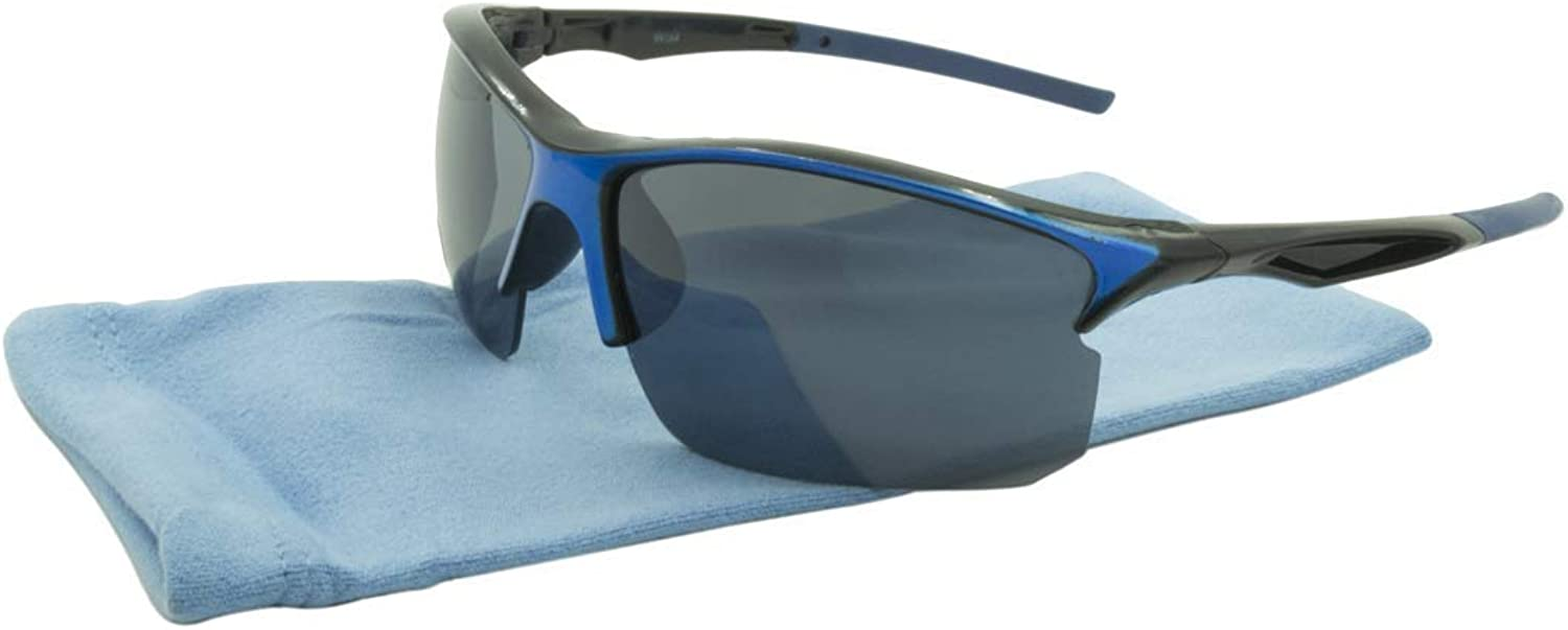 Alta Vision Sunglasses  Sport Moab   Frame  Black and bluee Lens  bluee99164blue