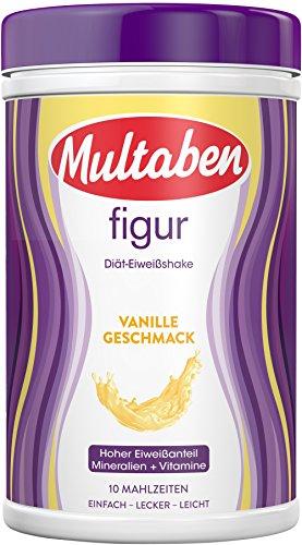 Multaben Diät Shake (430 g) – proteinreicher Abnehm Shake für eine Eiweiß Diät – Vanille-Geschmack mit Vitaminen und Mineralstoffen – sättigender Diät Drink als hochwertiger Nahrungsersatz