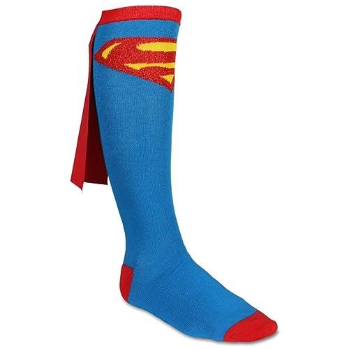 8d28b7bda Superman Logo DC Comics Superhero Cape Knee High Socks