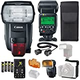 Canon Speedlite 600EX II-RT Flash + Canon Speedlite Case + 4 High Capacity AA Rechargeable Batteries and Charger + Flash L Bracket + TTL Cord