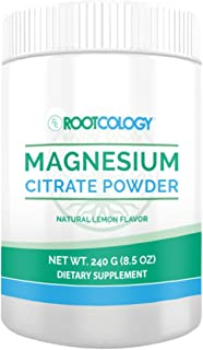 Rootcology Magnesium Citrate Powder - 300mg Magnesium with Natural Lemon Flavor for Digestion Support by Izabella Wentz Author of The Hashimoto's Protocol (240g / 60 Servings)