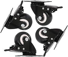 4 stuks Zwenkwielen 50mm,Zwaarlastwielen,Meubelwielen, Transportwielen,Zwenkwieltjes voor een Trolley,Meubelzwenkwielen Zw...