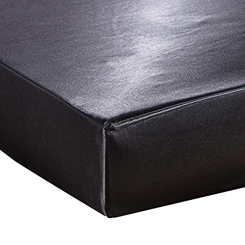 XGguo Protector de colchón/Cubre colchón Acolchado, Ajustable y antiácaros. Sábana de Cama Individual Color Beige Puro_54'_W_x_75' _L