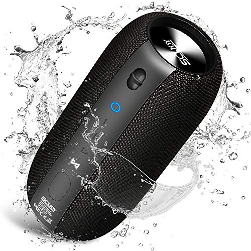 Bluetooth Speaker, SCIJOY Speakers Bluetooth Wireless IPX7 Waterproof, 20W Portable Bluetooth Speakers Built-in Mic, Rich Bass Small Speaker 360° Stereo Sound for Home, Party, Travel, Beach