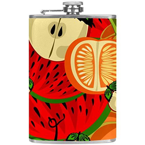 Frasco de licor plano naranja sandía Frasco de bebida de alcohol botella al aire libre Camping partido frasco
