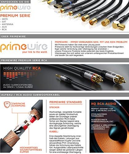 CSL - 1,5m Cinchkabel Stereo 3,5mm Klinke zu 2X Cinch - AUX Eingänge Audio 3,5mm Klinken Stecker zu 2X Cinch RCA Stecker - Metellgehäuse vergoldet Audiokabel doppelt geschirmt