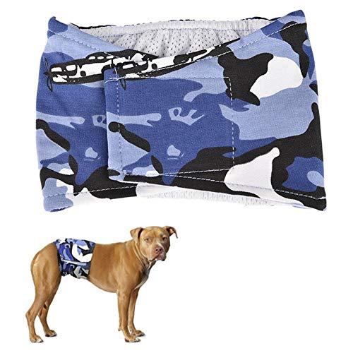 TTinah PañAles para Perros PañAles Perro Macho PañAles Perro Hembra Regla Estacional Braga Perro For Cachorro Desentrenado Hembras En Celo Evita Las Manchas De Orina Blue,Medium