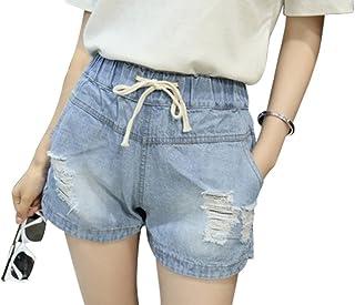 Sheltons レディース ショートパンツ ゆったり 大きいサイズ 夏 デニムショート パンツ ブルー