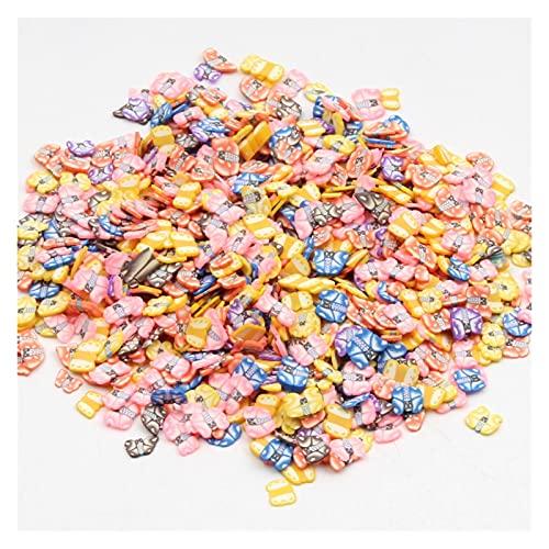 MURUI NTZ 1000pcs Polymer Clay Crafts Flatback Scrapbooking Beads para joyería Hacer Adornos Etiquetas de uñas Decoración del Arte DIY Yc0506 (Color : 3)