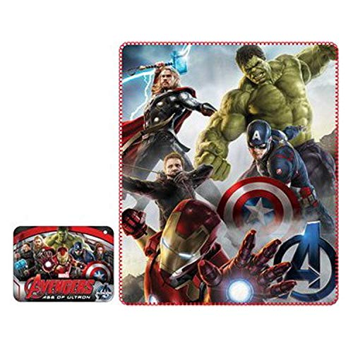 Manta tela escocesa niños estampado Avengers Hulk