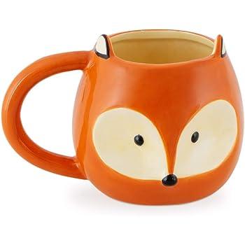 Balvi Mug Fox Tasse en Forme d'animal avec Anse Capacité: 482ml Céramique