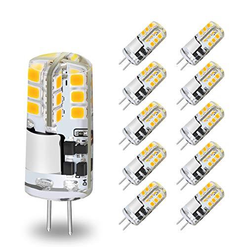 KINGSO G4 LED Lampen 3W 300LM Warmweiß 3000K LED G4 Leuchtmittel ersetz 30W Halogen, G4 LED Leuchtmittel Glühbirnen AC/DC 12V Kein Flackern Nicht Dimmbar - 10er Pack