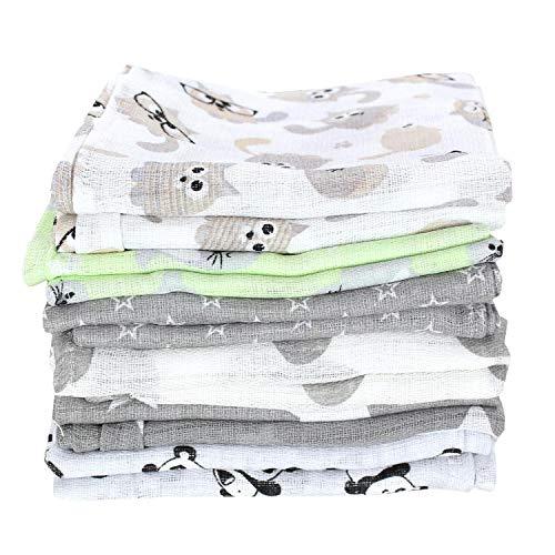 TupTam Baby Mullwindeln Spucktücher 70x80 6er / 12er Pack, Farbe: Unisex, Anzahl der Teile:: 12er Pack