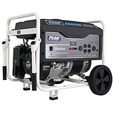 Pulsar PG6000 Portable Gas-Powered 6,000W  Generator with Wheel Kit