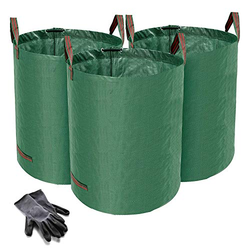 Norjews 272L Large Garden Waste Bags Pack of 3 (H76 cm, D67 cm), Waterproof...