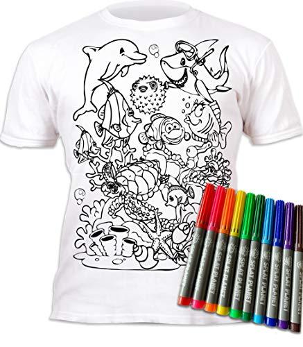 Le t-shirt enfant à peindre sur le thème du dauphin