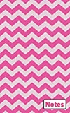 Notes: Pink Chevron Pocket Notebook Wide Ruled Blank Lined Drawing Journal