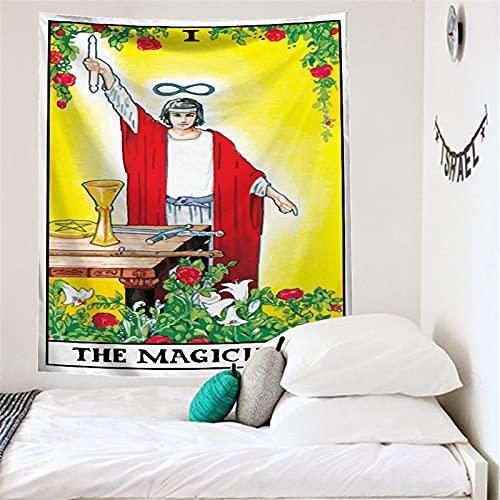 Tapiz de cartas de Tarot, tapiz de sol, colgante de pared, misterioso, medieval, estilo europeo, tapiz de adivinación, manta A9 73x95cm