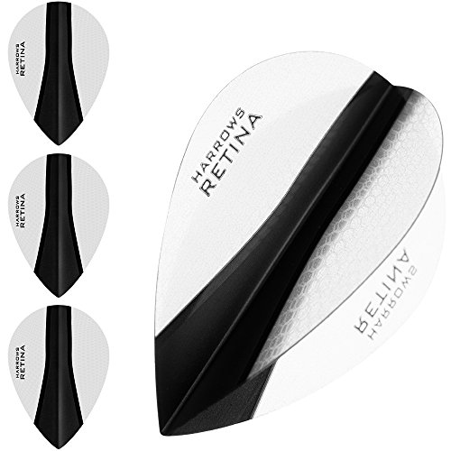 HARROWS retina-x Dart Flights – 5 sets (15) – 100 micron Extra Stark – Pear – Klar