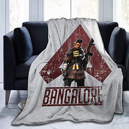 Manta de Franela Tela de Cepillo Extra Suave Súper cálida Mantas para sofás acogedora y Ligera Soldado Profesional de Apex Legends Bangalore