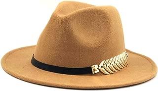 Sun Hat for men and women Men Women Fashion Fedora Feather Leather Belt Fedora Hat Wool Blend Hat Outdoor Casual Hat Top Jazz Hat European American Hat Panama Hat