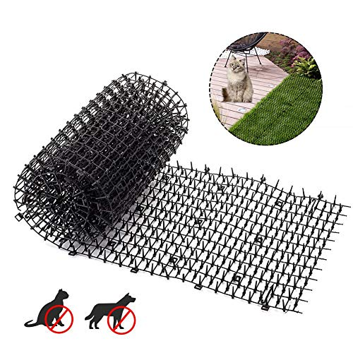 Sue-Supply Cat Scat Mat Met Spikes Anti Kat Hond Mat, Kat Afneembare Mat Voor Tuin, Hek, Anti-Katten Netwerk Digging Stopper Prickle Strip