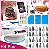 RFAQK 64 PCs Cake decorating supplies kit with Cake Turntable-Cake...