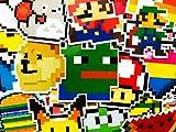 12 Random Retro Gaming Pixel Arcade Videogame Stickers