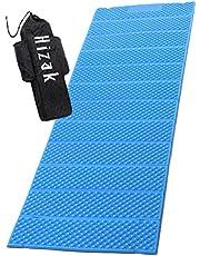 Hizak レジャーマット 縦186cm 横56cm 幅1.8cm 重量330g レッド オレンジ グリーン ブルー EVA素材