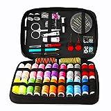 JUNSHUO Kit de Costura,Costurero 90 pcs Accesorios Costura Kit de Accesorios para el viajes y principiantes y emergencias, para Inicio/Viaje/Adultos/Niños/Principiantes/Uso de Emergencia
