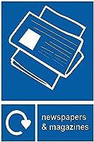注意サイン-新聞や雑誌のリサイクル。 通行の危険性屋外防水および防錆金属錫サイン