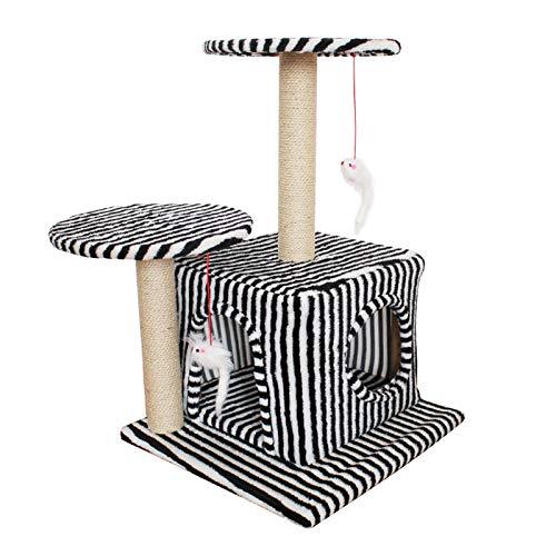 YANGYUAN Árbol de Gato, Torre de Gato pequeño, condominio, rasguño Post Kitty Activity Center Kitten Play House