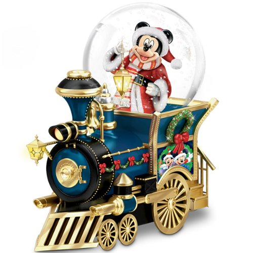 The Bradford Exchange Disney Mickey Mouse Miniature Snowglobe: Santa Mouse is Comin' to Town