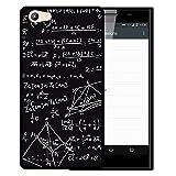 WoowCase Doogee Y300 Hülle, Handyhülle Silikon für [ Doogee Y300 ] Mathematische Formeln Handytasche Handy Cover Case Schutzhülle Flexible TPU - Schwarz