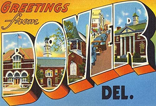 Greetings from Dover Delaware - Vintage Under blast sales Poste Postcard Some reservation 1930's