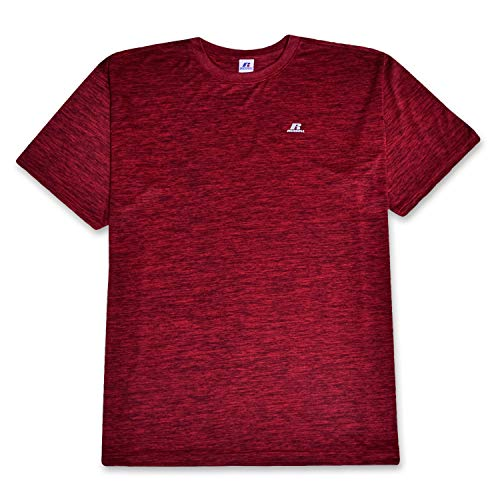 Russell Big and Tall Mens T Shirt Active Performance Moisture Wicking Technology Red Heather