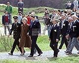 Bucraft Ronald Reagan & Nancy llegan para el día D 40 aniversario - foto 8X11 (BB-424)