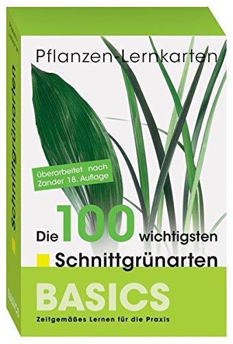 Pflanzen Lernkarten: Die 100 wichtigsten Schnittgrünarten: 100 Lernkarten in Lernkartenbox