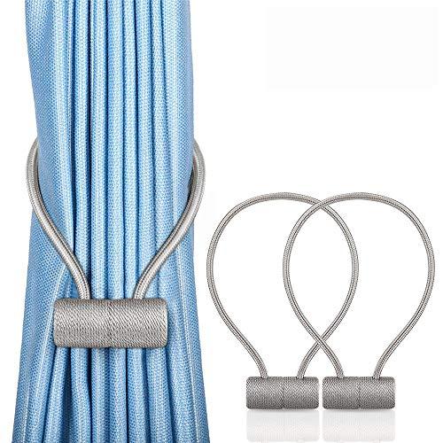Unictop Raffhalter mit Magneten, 2 Stück Vorhang Raffhalter Klemme zum Halten Ihrer Vorhänge oder Gardinen, für Zuhause, Büro, Dekoration