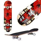 fiugsed Skateboard Komplettboard Mit ABEC-9 Kugellager Und...