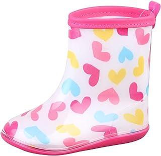 [snofiy] ショートブーツ キッズ レインブーツ ジュニア 女の子 男の子 子供靴 可愛い 雨靴 子供 防水 滑り止め 梅雨対策 雨の日 雨遊び 軽量 通学