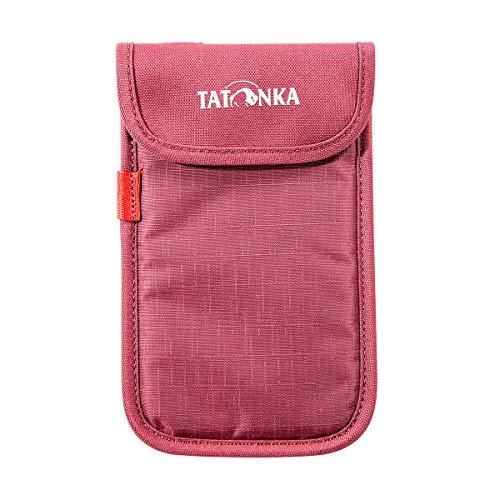 Tatonka Case L Smartphone Tasche, Bordeaux red, 9,5 x 15,5 x 1 cm