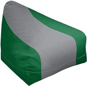 ArtVerse NFS Philadelphia Throwback Football Stripes Bean Bag w/Filled Insert, 27 x 30 x 25, Green and Silver
