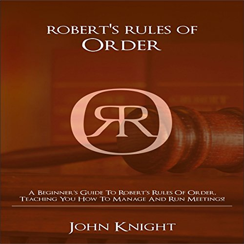 Robert's Rules of Order audiobook cover art