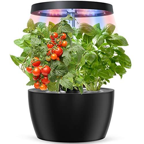 Yoocaa Indoor Hydroponics Growing System, Smart Indoor Herb Garden With LED Grow Light, Height Adjustable Hydroponics Gardening System For Home Kitchen Gardening (4 Pods)