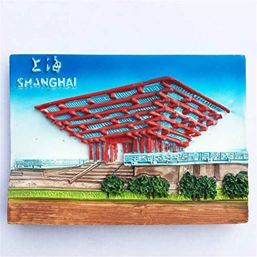 TDCTshop Shanghai World Expo China Pavillon, kreative Harz 3D Malerei K¨¹hlschrank Magnete, handgefertigt, touristische Souvenirs, K¨¹Che Haushaltsgegenst?nde, Kunsthandwerk Dekoration.