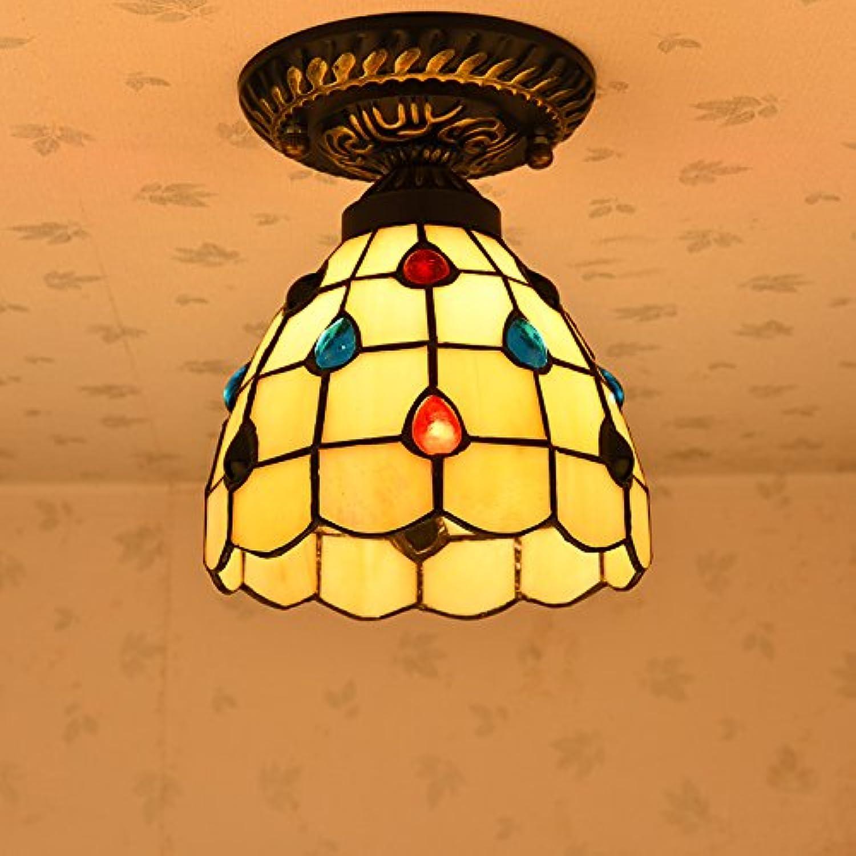 Osradmd einfachen mediterranen Licht Decke, Gang Balkon, Küche und Bad Eingang, Retro American Style Garten Leuchten, Kreative Lampen, 15 cm Wassertropfen positiv auf die Top angezogen sind