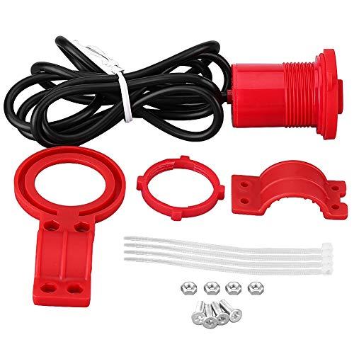 USB-Ladegerät Motorrad USB-Anschlussschalter mit Anzeige ABS-Kunststoff-Mobiltelefone Elektromotorräder(red)